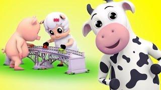 getlinkyoutube.com-London Bridge Is Falling Down | Nursery Rhymes Farmees | Kids Songs | Baby Rhymes