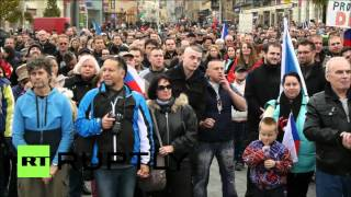 getlinkyoutube.com-Czech Republic: Protesters reject Muslim refugees in Brno