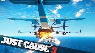getlinkyoutube.com-IMPOSSIBLE PLANE STUNT!! :: Just Cause 3 Stunts!