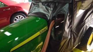 getlinkyoutube.com-John Deere X748 soft cab and custom heater