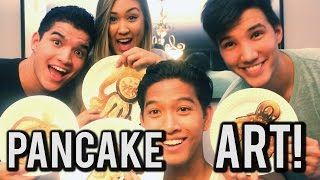 getlinkyoutube.com-Pancake Art Challenge Ft. Alex Wassabi, Laurdiy, & Lazyron!!