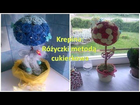 Krepina/crepe paper - jak zrobić różyczki metodą cukierkową
