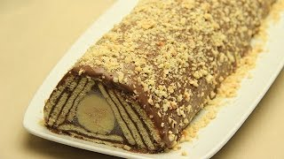 getlinkyoutube.com-Kalter Hund Schokolade Rezept - Keks Torte Kuchen ohne Backen