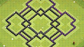 getlinkyoutube.com-Diseño de aldea Hibrida Ayuntamiento nivel 9