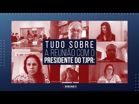 Reunião com o Presidente do TJPR no dia 28 de setembro de 2021