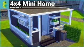 getlinkyoutube.com-The Sims 4 House Building - 4x4 Mini Home