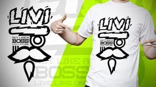 "getlinkyoutube.com-Swerve™ Graphic designer: Speedart | ""LIVI Boss"" T-shirt Design Illustration by Swerve Designs"