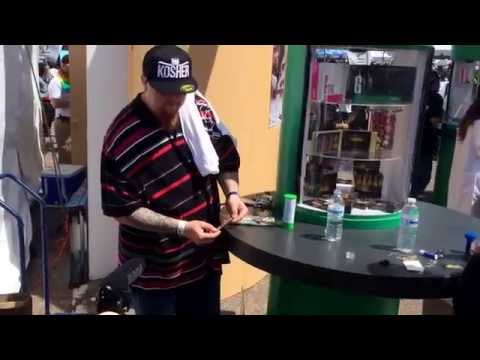 Jimmy rolls a blunt for High Times @ Cannabis Cup  4/20/14 Denver,CO