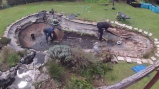 getlinkyoutube.com-Garden Koi Pond Renovation Timelapse