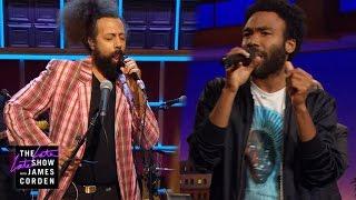 getlinkyoutube.com-Donald Glover & Reggie Watts Make Music