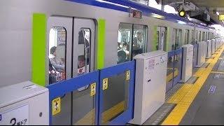 getlinkyoutube.com-【ホームドア使用開始】H26.3.22 東武野田線 船橋駅 可動式ホーム柵の稼働が開始される