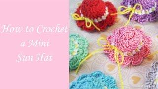 getlinkyoutube.com-How to Crochet a Mini Sun Hat - Free Crochet Pattern