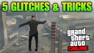 getlinkyoutube.com-GTA 5 Glitches - 5 Glitches & Tricks on GTA 5 Online (Drive on 2 Wheels, Launch Glitch, Under Map)