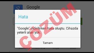 getlinkyoutube.com-ÇÖZÜM ► Android Cihazda Yeterli Alan Yok Uyarısı