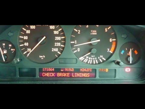 BMW Check Brake Linings And Brake Pad Sensor Light Reset e38 e39 e46 e53 z3 m3