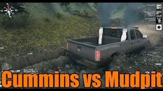 getlinkyoutube.com-Spin Tires | Modded Multiplayer | Ram 2500 Cummins vs Mudpit