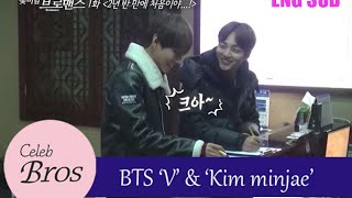 """getlinkyoutube.com-V(BTS) & Minjae, Celeb Bros S1 EP1 """"It's the first time in 2 and half years..!"""""""