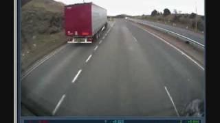 getlinkyoutube.com-LORRY CRASH A90 ABERDEEN LIVE ON BOARD TRUCK CAM