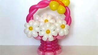 getlinkyoutube.com-Корзина из шаров / Basket of balloons (Subtitles)