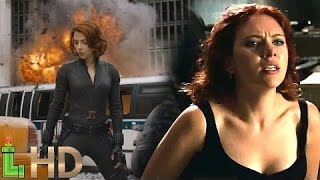 Black Widow All Fight Scenes - MCU Including Captain America Civil War | HD 1080