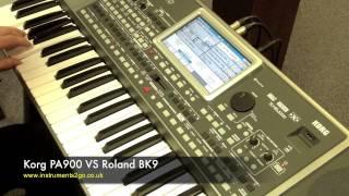 getlinkyoutube.com-Korg PA900 vs Roland BK9 Keyboard