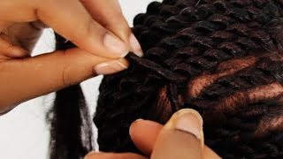 getlinkyoutube.com-Senegalese Twist Cornrows Step by Step Tutorial Part 2 of 4
