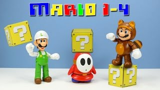 getlinkyoutube.com-World of Nintendo Super Mario Series 1-4 Tanooki Mario Fire Luigi & Shy Guy