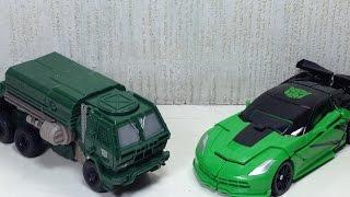 getlinkyoutube.com-1 Step Hound Crosshairs Transformers 4 Toy Review