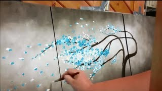 getlinkyoutube.com-How to paint a tree blowing in the wind STEP by STEP