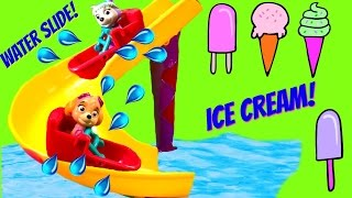 getlinkyoutube.com-Paw Patrol Go on Water Slide at Amusement Park with Ice Cream and Toys