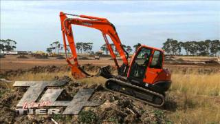 getlinkyoutube.com-Kubota KX080-3 --- 6-8 Excavator