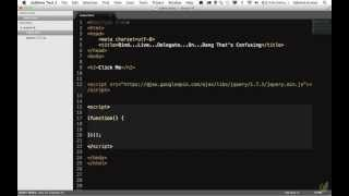 Day-6 : Learn jQuery in 30 days 6.Bind-Live-Delegate-Huh.mov