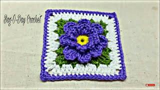 CROCHET How to Crochet Flower Granny Square #TUTORIAL  #171 LEARN CROCHET