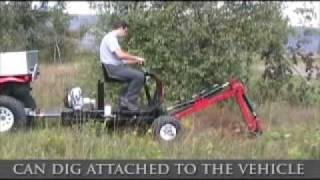 getlinkyoutube.com-Towable Backhoe Spider Excavator