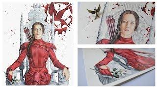 getlinkyoutube.com-Drawing Katniss Everdeen | The Hunger Games: Mockingjay Part 2