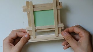 getlinkyoutube.com-How To Make A DIY Picture Frame From Popsicle Sticks. (Full HD)