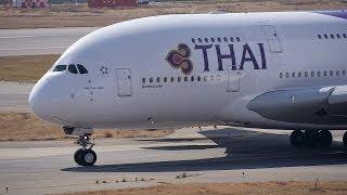Thai Airways International Airbus A380 HS-TUB Takeoff from KIX 24L