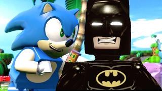 LEGO Dimensions Sonic The Hedgehog & Lego Batman Movie All Cut Scenes & Ending