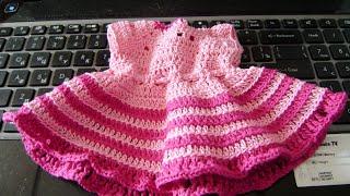 как связать платье крючком crochet knit dress
