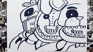 getlinkyoutube.com-Como dibujar a five nights at freddy's 2 | how to draw five nights at freddy's 2