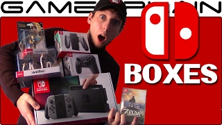 getlinkyoutube.com-We Have the Nintendo Switch! Unboxing the Box It Came in + Switch Accessories, Zelda, & amiibo