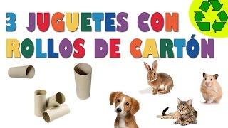 getlinkyoutube.com-Cómo hacer 3 juguetes sencillos para mascotas con rollos de papel higiénico - manualidadesconninos
