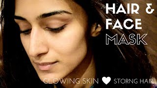 moong dal and methi seed hair & face mask | HAIR CARE | SKIN CARE | ERICA FERNANDES
