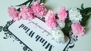 getlinkyoutube.com-Carnation paper flower - Làm hoa cẩm chướng giấy nhún