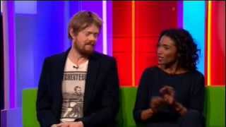 getlinkyoutube.com-Death in Paradise Interview Kris Marshall & Sara Martins