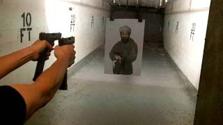 getlinkyoutube.com-Gen 4 Glock 23 & G17 Dual Wield: Extended Mags