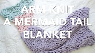 getlinkyoutube.com-How to Arm Knit a Mermaid Tail Blanket - Simply Maggie