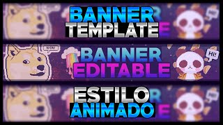 getlinkyoutube.com-Banner Template #2 Animado DOGE,PANDA - Speed Art Banner
