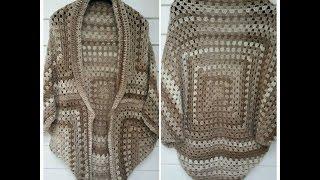 getlinkyoutube.com-crochet en español chaqueta  granny square principiantes