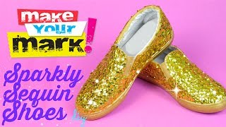 getlinkyoutube.com-How to: Sequin Shoes DIY